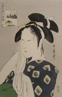 Utamaro Widow a
