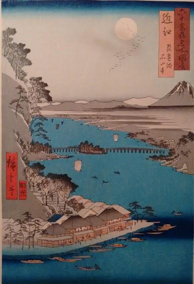 Ishiyama Temple and Lake Biwa in Ōmi Province a