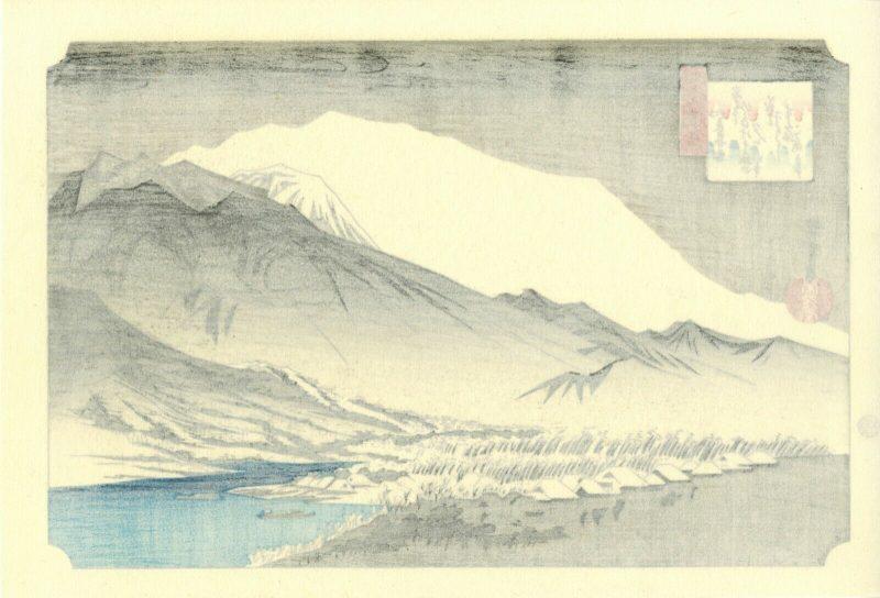 Hiroshige-Evening-snow-at-Hira-from-Omi b