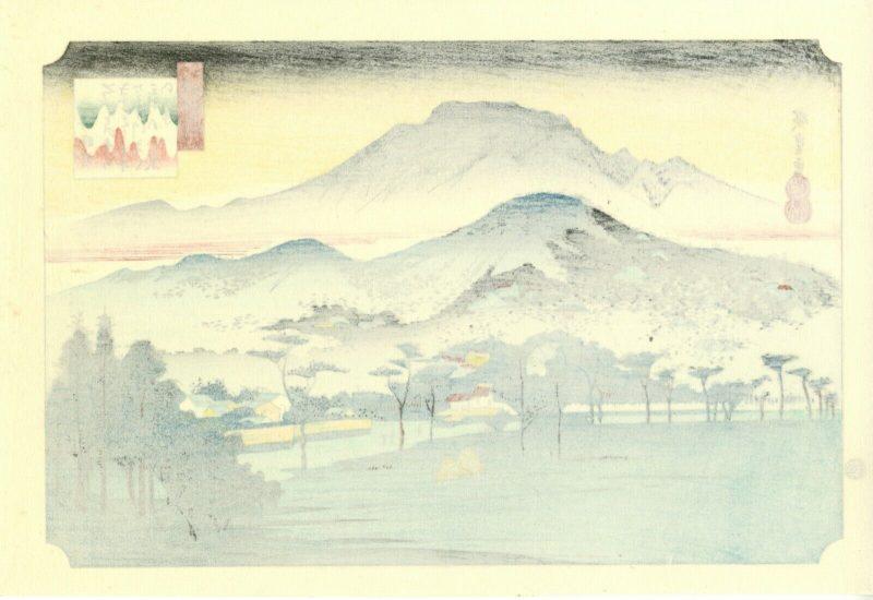 Hiroshige-Vesper-bell-at-Mitui-from-Omi-Eight b